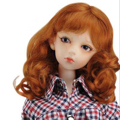"Dollmore 1/3 BJD dollfie SD wig  (8-9)"" Princess Mohair (Carrot) SD size wig"