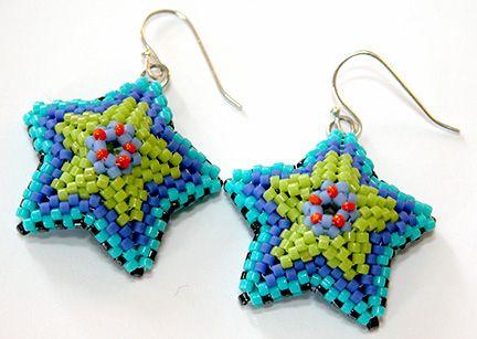 Nita E Kaufman-Turned 3-d stars into earrings.