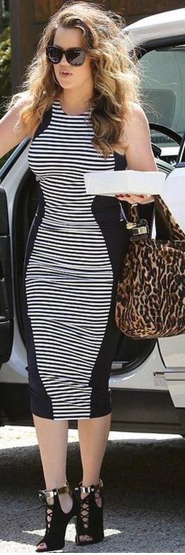 Khloe Kardashian: Shoes – Giuseppe Zanotti X Anja  Dress – Torn by Ronny Kobo