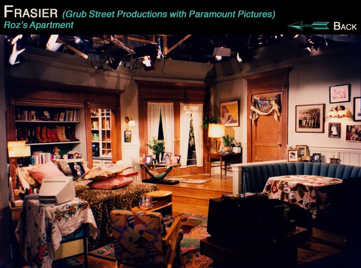 This is Roz's home from the set of Frasier. LOVE the boot ...