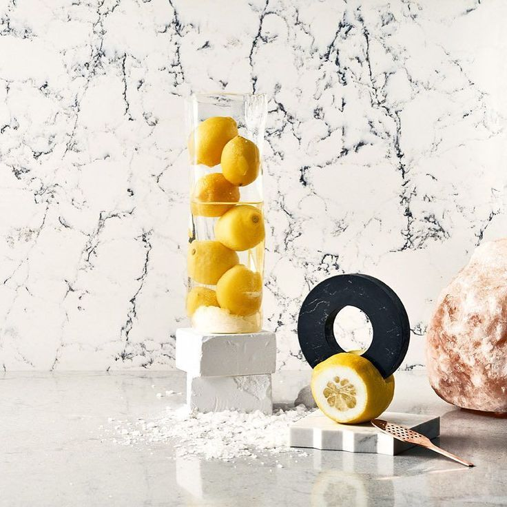 Ice  Salty Lemonade    #materialmenu #clickthelinkinbio Discover 'A Material Menu: Designs for the Culinary Aesthetic' by @arabeschi for #caesarstone  An inspirational recipe book containing a series of eight recipes for you to try at home  #clickthelinkinbio #discovermore | Caesarstone Raw Concrete 4004