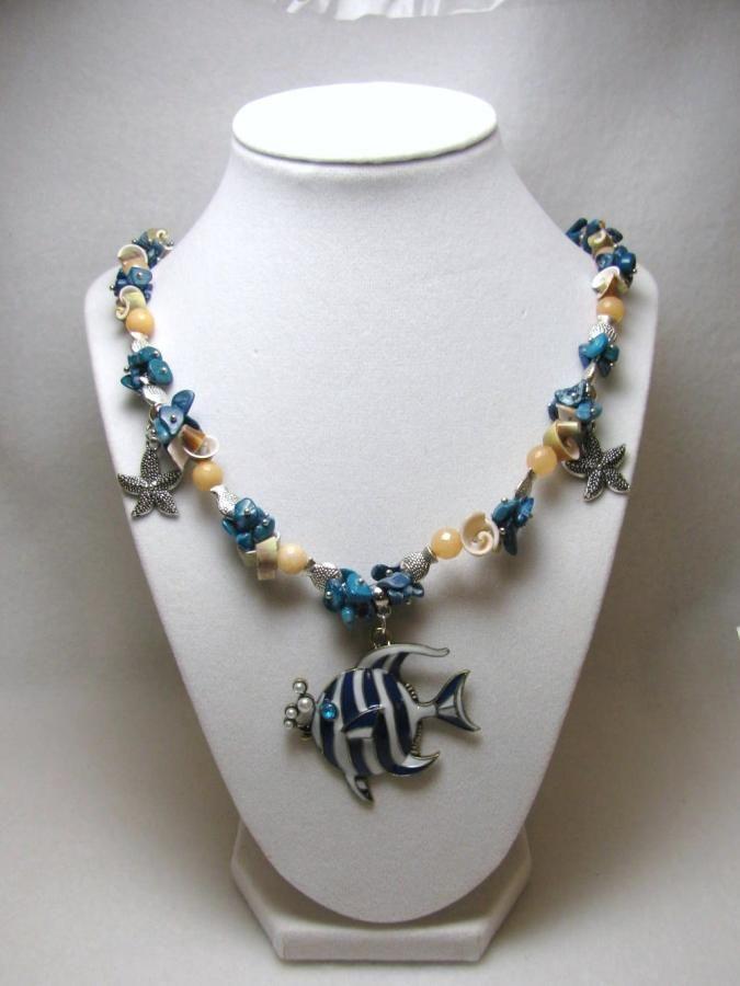 Swim Among the Fish - Jewelry creation by Linda Foust