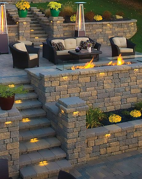 Backyard Retaining Wall Designs Extraordinary Design Review