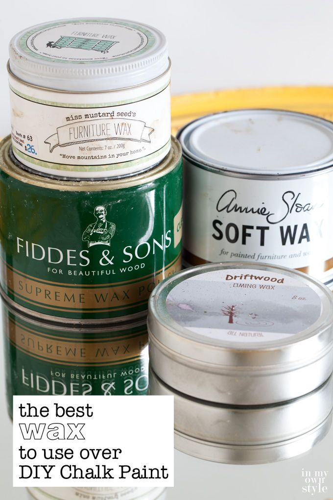 My favorite tried and true furniture waxes that I reach for to protect my DIY chalk paint finishes.