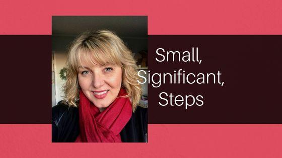 Cat Coluccio     Small, significant steps.