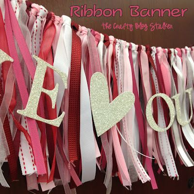 The Crafty Blog Stalker: Easy DIY Ribbon Banner