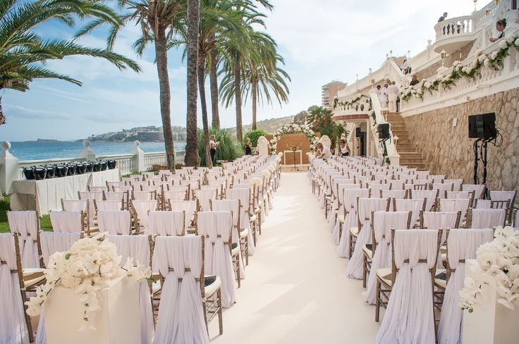 A stunning wedding we had the pleasure of making the pergola, garlands and arrangements of on the shores of Palma Photograph by Thomas Barr