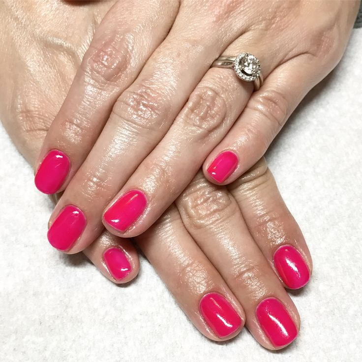 Hot Pink Gel Polish: 1000+ Ideas About Hot Pink Nails On Pinterest
