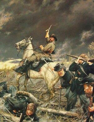 Gen. Nathan Bedford Forrest Battle of Shiloh Fallen Timbers