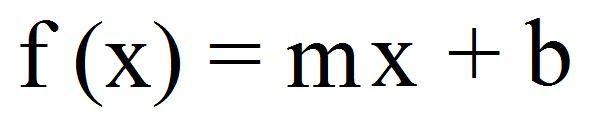 Matematicas: La Funcion Lineal