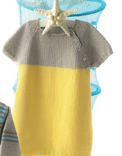 Revista bebé 60 Primavera / Verano | 2: Bebé Vestido | Amarillo / Gris claro perlado