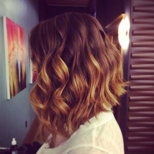Wavy Angled Bob Haircuts - Short Haircuts for Women