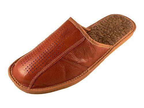 Oferta: 20.53€ Dto: -44%. Comprar Ofertas de De piel para hombre zapatillas de andar por casa con plantilla ortopédicos o de forro de lana. Disponible en varios colores, barato. ¡Mira las ofertas!