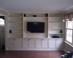 whole wall built ins around tv