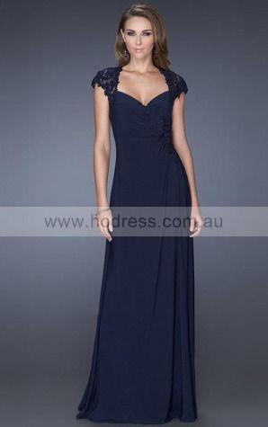 Chiffon Sweetheart Natural A-line Floor-length Evening Dresses abaa1059--Hodress