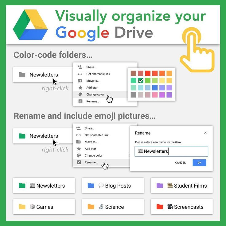 """""""Transform Google Drive's typical listing of gray folders into a visual extr…"""