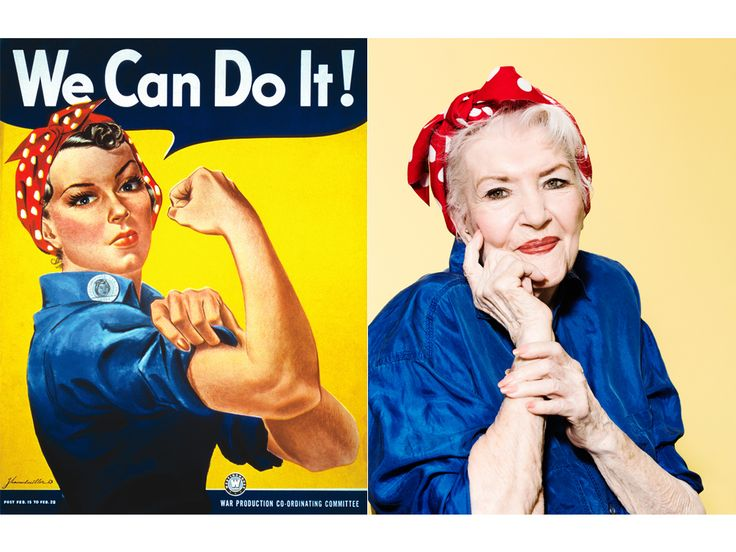 See Rosie the Riveter at 95: Woman Who Inspired WWII Poster Was Lost to History for 7 Decades http://www.people.com/people/article/0,,21028488,00.html