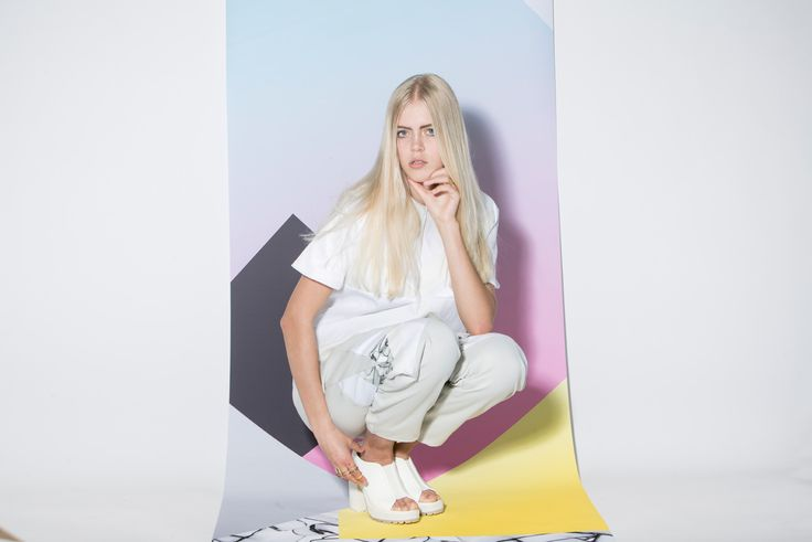 Top and trousers from AGURK's SS14 Collection. Young and fresh Danish brand designs unique feminine streetwear. Editorial fashion photoshoot. #scandinavian #streetwear #fashion #danishdesign #femininestreetwear