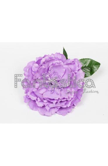 Flor para el Pelo Modelo Lola Talla Grande Color Lila. Disponible en varios colores.