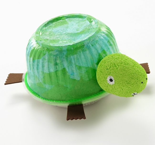Turtle from Recycled Containers