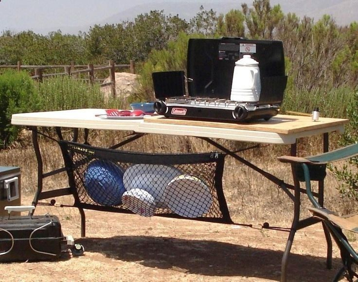 Camping Dishes dry using a mesh laundry bag--brilliant!!!