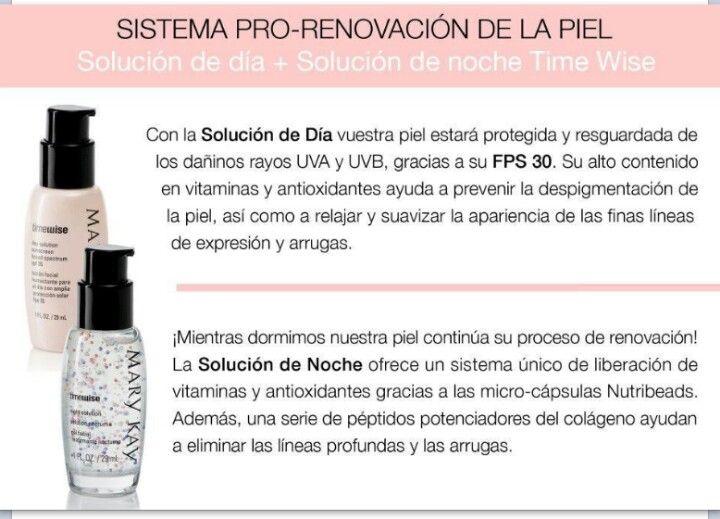 Sistema AM/PM de Mary Kay: compuesto por vitaminas, péptidos y antioxidantes, este duo potencia los ciclos de protección de la piel durante el día y los ciclos de regeneración celular durante la noche.