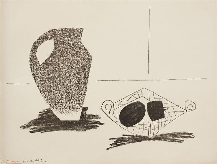 """""""Nature Morte Au Pot de Gres"""" (1947), Pablo Picasso - Park West Gallery"""