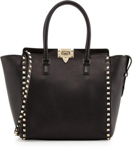 Rockstud Shopper Tote Bag Black ~ Valentino