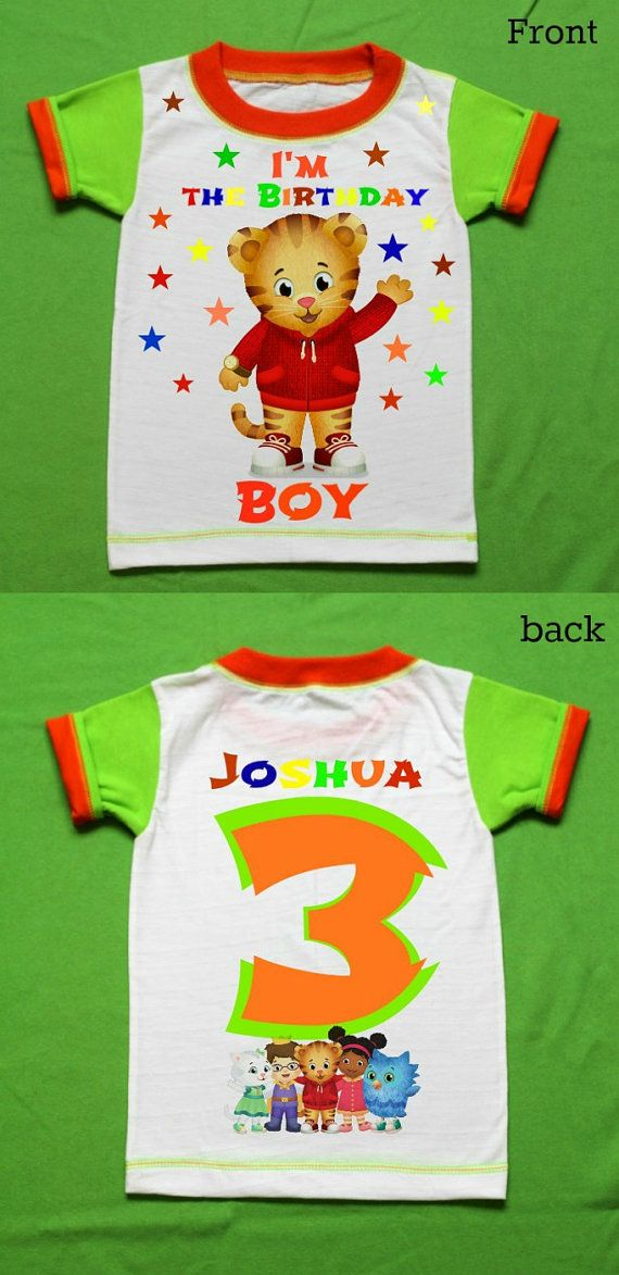 Daniel the tiger Personalized t-shirt 1st 2nd 3rd 4th 5th 6th Personalization is included at no additional cost.