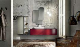 Collezione Enea by Edoné Design - 1 - Design minimale in vetro e resina // specchio più' luci sospensioni/ pendenti