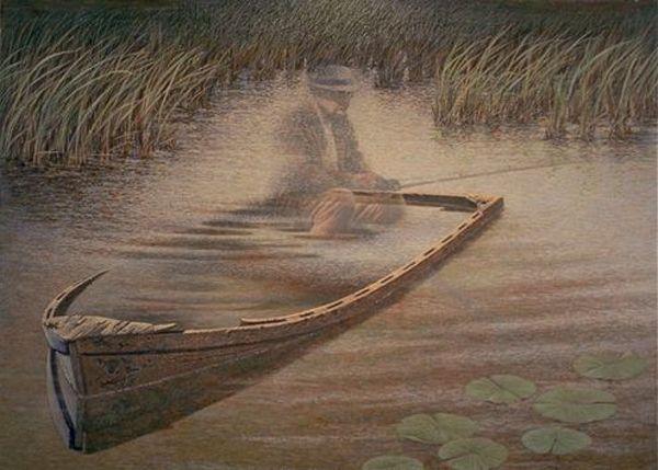 """ MR. EMMET'S FISHING HOLE ""  JAMES LUMBERS"
