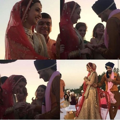 Wedding Photos : 'Miley Jab Hum Tum'.. Sanaya Irani and Mohit Sehgal tied the knot