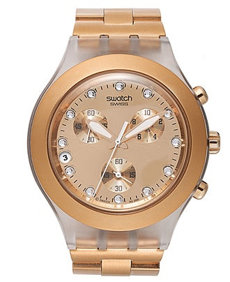 Swatch Watch, Unisex Swiss Chronograph Full-Blooded Caramel Toffee Color Aluminum Bracelet 43mm SVCK4047AG - All Watches - Jewelry & Watches - Macy's