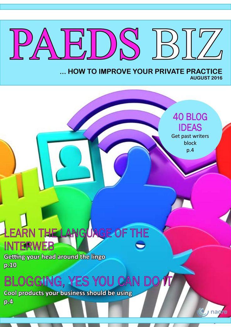 Paeds Biz E-Magazine - September Edition 2016