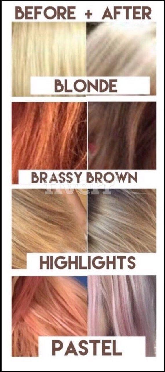 Kiss My Brass Additiv Das Naturliche Lila Shampookonzentrat Fur Messingfarbenes Blondes Glanzlichter Graue Brassy Blonde Purple Shampoo Baking Soda Shampoo