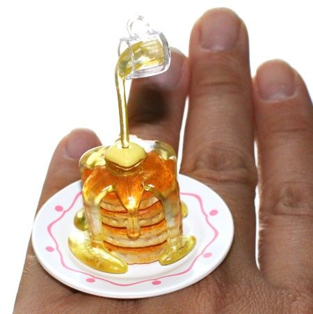 Kawaii Miniature Food Floating Ring - Pancakes with Syrup