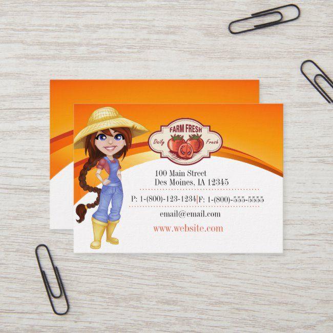 Farm Fresh Produce Business Card Zazzle Com Farm Fresh Produce Fresh Produce Retail Design Display