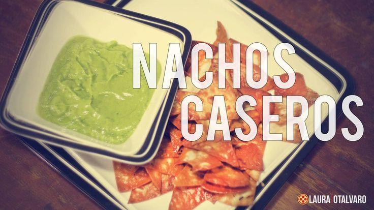 Nachos caseros. #Nachos #RECETA