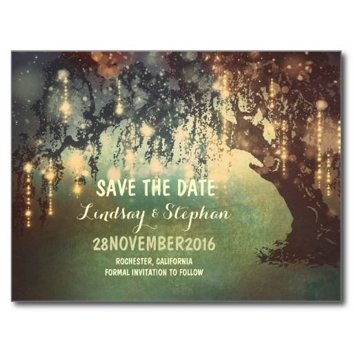 There is nothing prettier than wedding under the old tree! Looking for tree save the date ideas? This painted and distressed rustic save the date postcard is just a perfect choice for the rustic country wedding surrounded by old tree with hanging string lights | twinkle lights. --------------Please contact me if you have a question regarding design or have a custom color request. ----------- If you push CUSTOMIZE IT button you will be able to change the font style, color, size, move it etc…