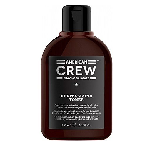 American Crew Shaving Skincare Revitalizing Toner 150ml  Tones and Refreshes Just-Shaved Skin  Aloe Vera Provides relief to irritated skin  Allantoin Gives surface of the skin a smoother, softer feel  Menthol Delivers a cooling effect for a refreshed feel  Bacilus Ferment (Keratoline) An enzymatic exfoliant that helps prevent ingrown hairs