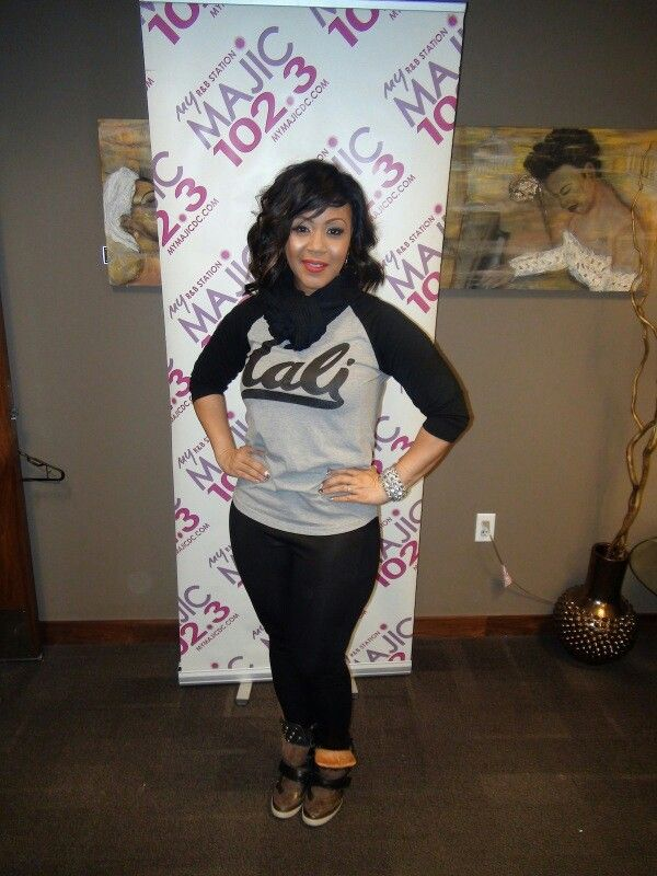 Erica Campbell casual fashion style.