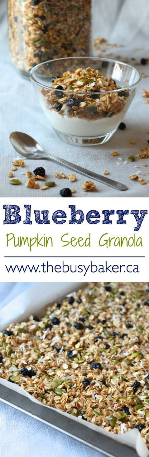 The Busy Baker: Blueberry Pumpkin Seed Granola