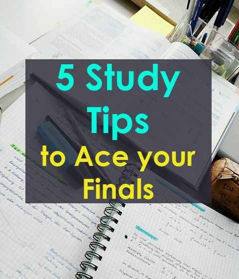 Finals week is upon us! Read this list of study tips to do well on your exams.