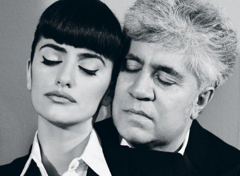 Legendary Spanish auteur Pedro Almodovar and his muse Penelope Cruz - on the fence about this being cool or creepy. but P.Cruz has a real retro look I dig.