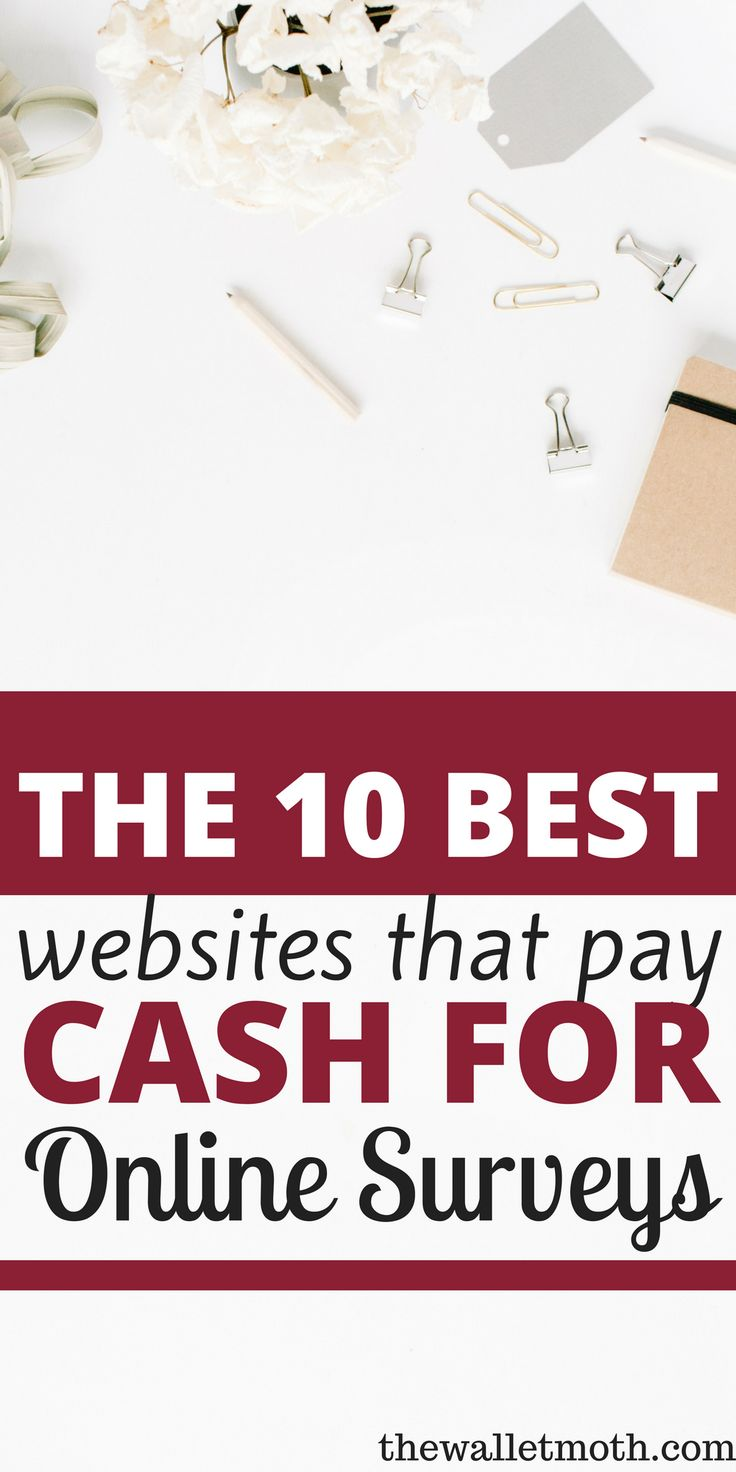These sites are GREAT for earning money online from home! I wanted to start making money from home and these online survey sites were perfect for earning extra cash in my budget - now I can save more money at home. Thanks for pinning!