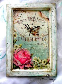 Zegar z różą