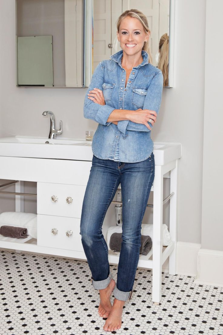 As seen on Rehab Addict, host Nicole Curtis in the renovated bathroom in the Riley home. Mariah Riley, a sixth grader and participant in the Wheels for Education Program under the LeBron James Family Foundation Promise Project, earned a total home makeover for meeting all her goals and doing well in school. Curtis and NBA superstar LeBron James, along with countless volunteers and the LeBron James Family Foundation staff renovated Mariah's entire home in just nine days.