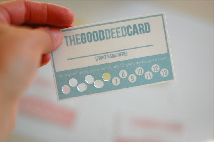 positive parenting: getting your little ones to listen (specifically those 4 year olds!!) with the good deed card!