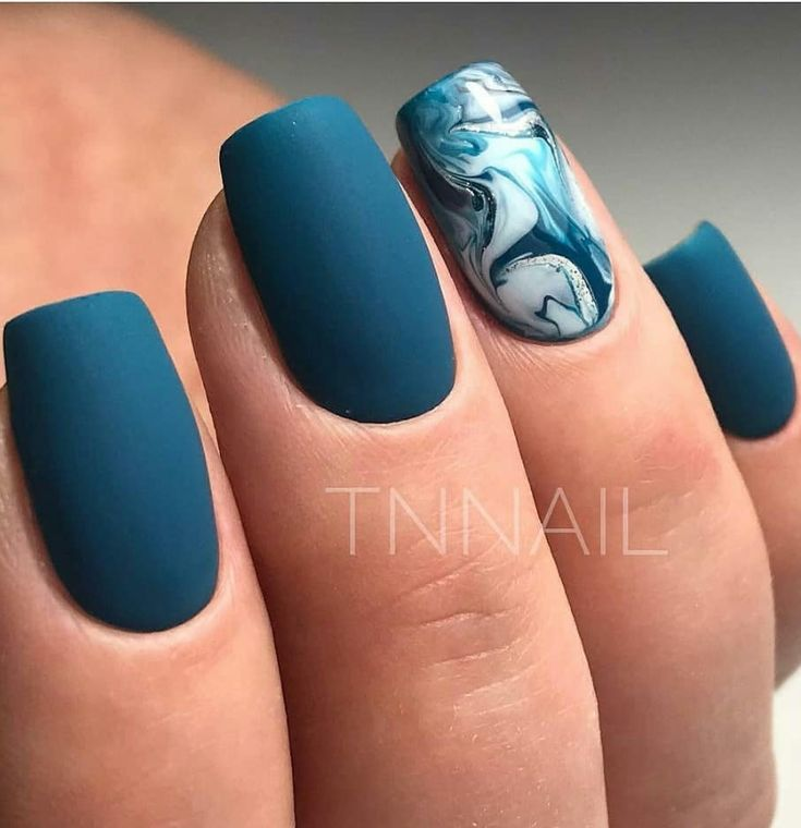 50 atemberaubende Matte Blue Nails Acryl-Design für kurze Nägel – Nails Design