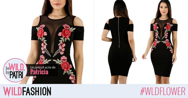 Croi sexy si flori brodate... trendurile verii intr-o singura rochie! Ce parere aveti fetelor?